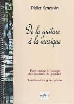 Didier RENOUVIN : de la guitare à la musique  Petit traité à l'usage des joueurs de guitare. 1 vol. 1 CD. Delatour : DLT0991