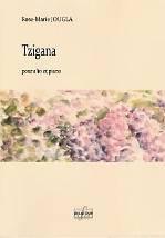 Rose-Marie JOUGLA : Tzigana  pour alto et piano. Difficile. Delatour : DLT2516.
