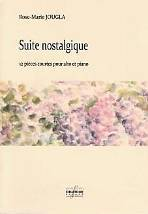 Rose-Marie JOUGLA : Suite nostalgique.  12 pièces courtes pour alto et piano. Moyen. Delatour : DLT2514.