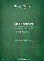 W.-A. MOZART : Air de concert  d'après l'Aria pour soprano KV580 « Schon lacht der holde Frühling, pour flûte et piano. Arrangement : Pascal Proust. 3ème cycle. Sempre più : SP0150.