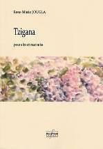 Rose-Marie JOUGLA : Tzigana  pour alto et marimba. Difficile. Delatour : DLT2515.